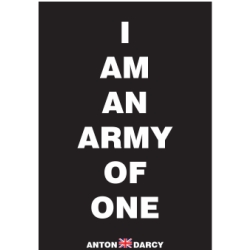 I Am An Army Of One Wob T on print border